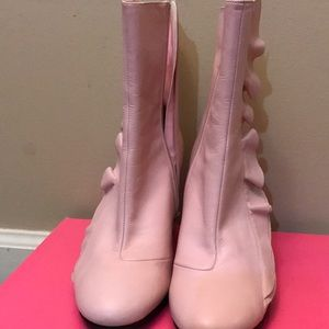 Adorable, Ruffle Pink Boots